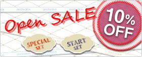 Open SALE!!SPECIAL-SET・START-SET 10%OFF